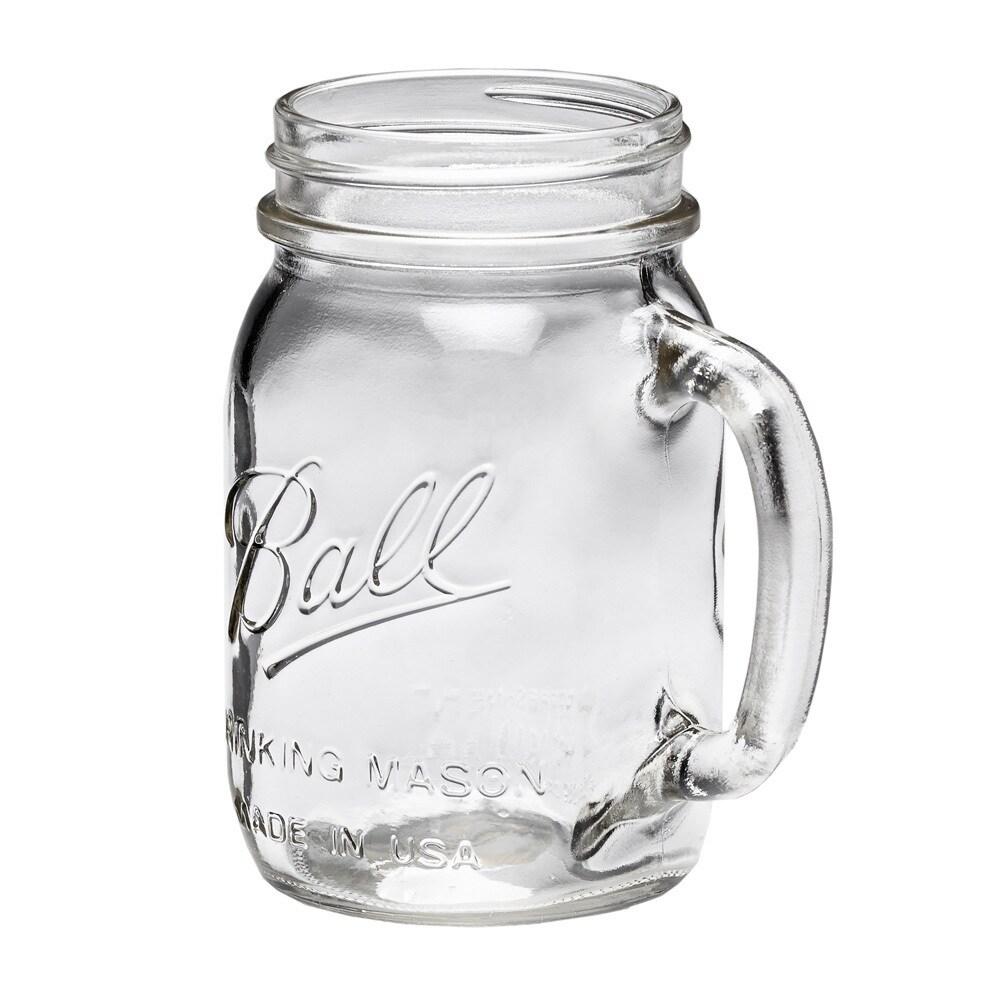 Ball Mason Jar Regular Mouth Drinking Mug 16oz, 8pk (Ball...