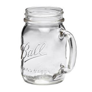 Ball Mason Jar Regular Mouth Drinking Mug 16oz, 8pk|https://ak1.ostkcdn.com/images/products/9602539/P16788800.jpg?impolicy=medium