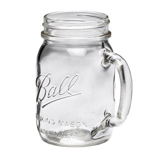 Ball Mason Jar Regular Mouth Drinking Mug 16oz, 8pk