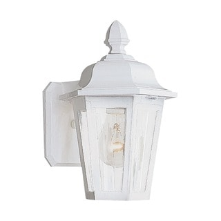 Single-light Brentwood White Outdoor Wall Lantern Fixture