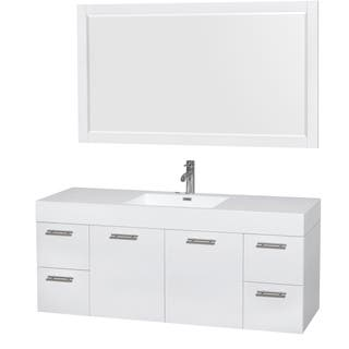 Wyndham Collection Amare 60-inch Single Vanity in Glossy White with Acrylic Resin Countertop/ Integrated Sinks|https://ak1.ostkcdn.com/images/products/9602614/P16788772.jpg?impolicy=medium