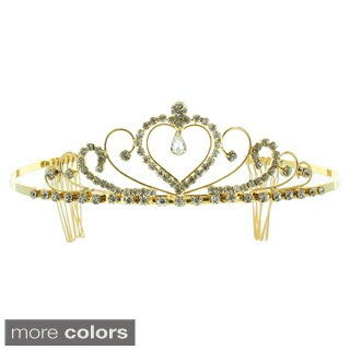 Kate Marie 'Alcina' Classic Rhinestones Crown Tiara with Hair Combs