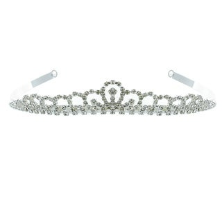 Kate Marie 'Sabina' Classic Rhinestones Crown Tiara with Hair Combs in Silver