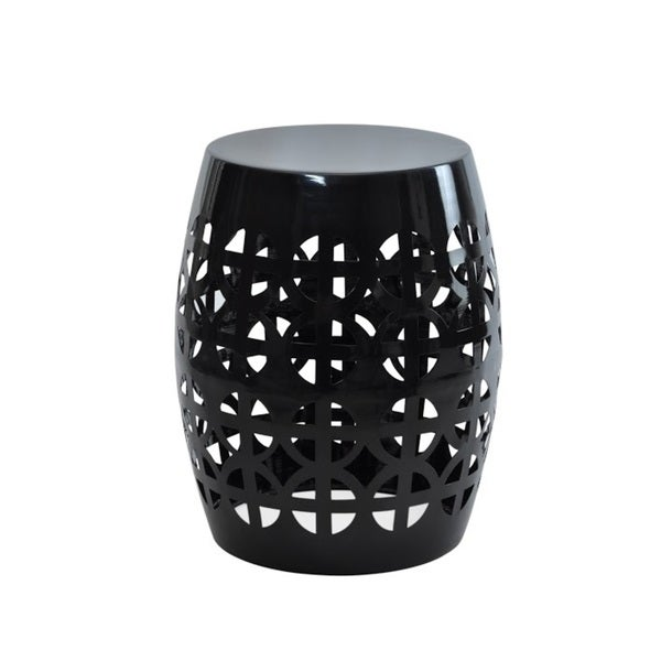 Shop Artisan Black Garden Stool Side Table Overstock