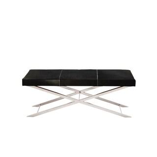 Artisan Black Cowhide Cross Bench