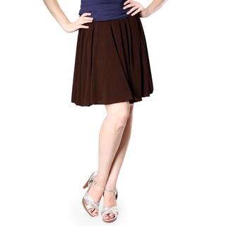 Evanese Women's Yoke Uneven Pleats Skirt (More options available)