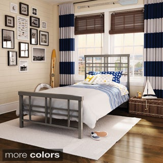 Amisco Heritage Twin Size Metal Bed