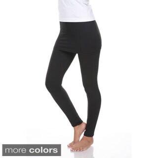 White Mark Women\u0027s Skirted Leggings