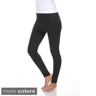 White Mark Women's Skirted Leggings