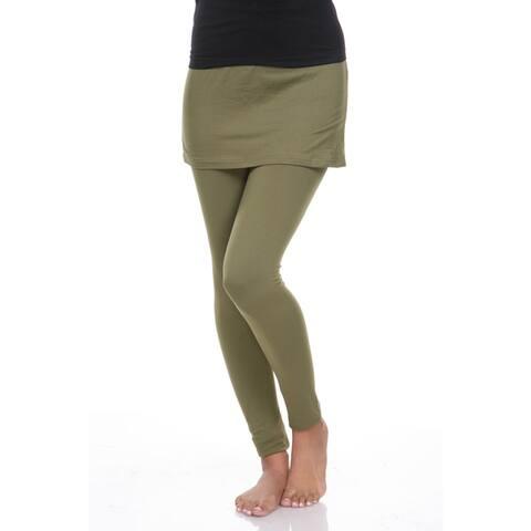 White Mark Women's Skirted Leggings