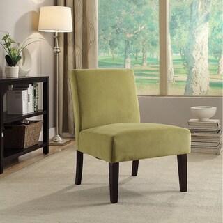 Espresso and Velvet Laguna Accent Chair