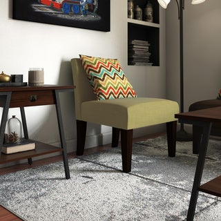 Espresso and Velvet Laguna Accent Chair