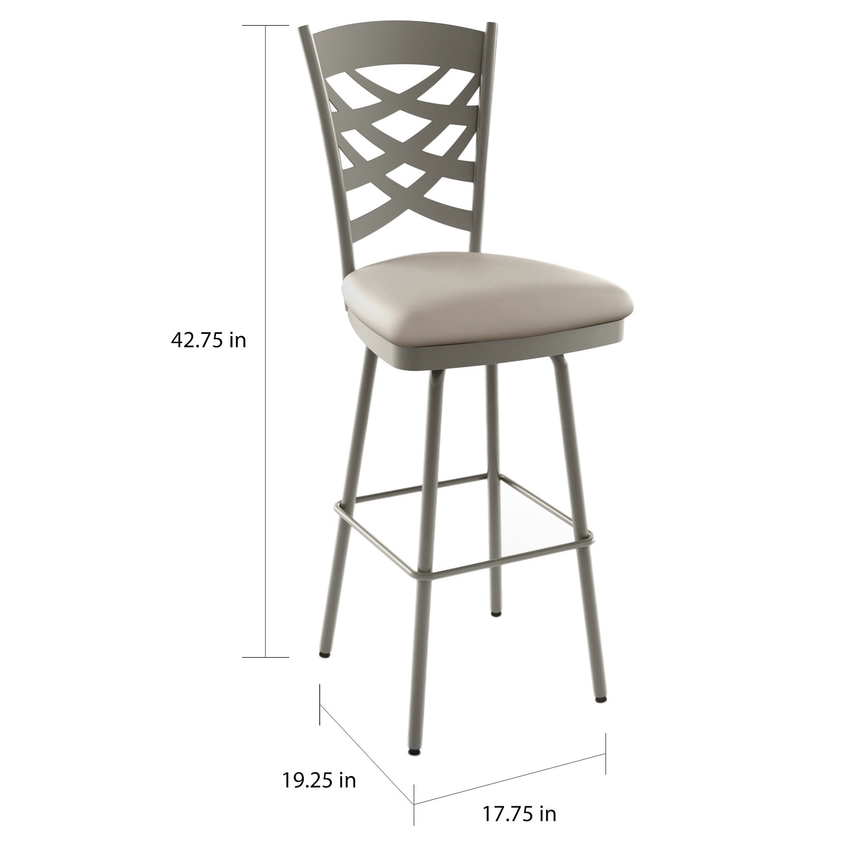 Prime Amisco Nest 26 Inch Metal Swivel Counter Stool Bralicious Painted Fabric Chair Ideas Braliciousco