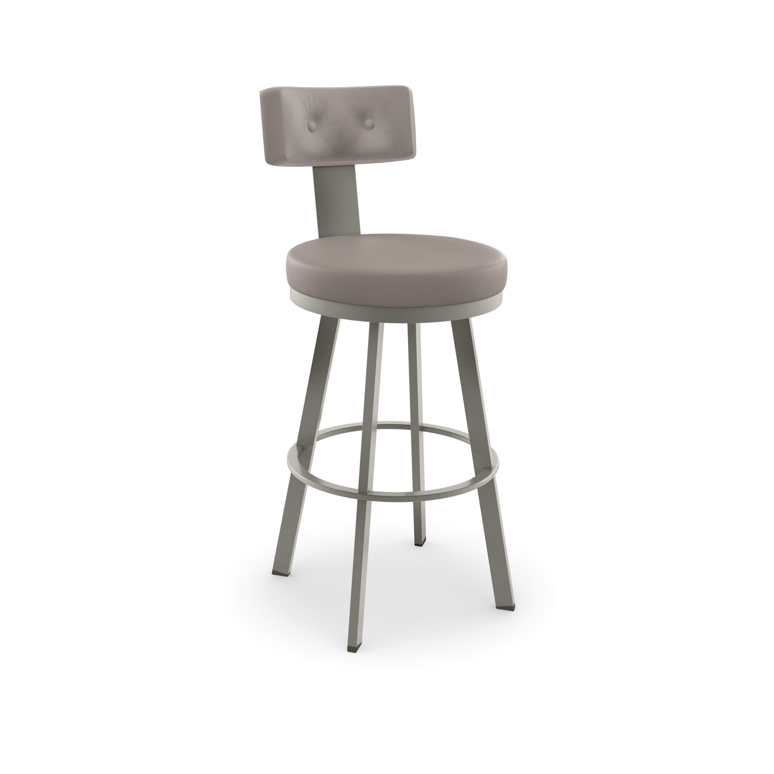 Amisco Tower 26 Inch Metal Swivel Counter Stool