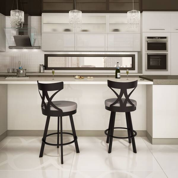 Fabulous Shop Amisco Washington 26 Inch Metal Swivel Counter Stool Dailytribune Chair Design For Home Dailytribuneorg
