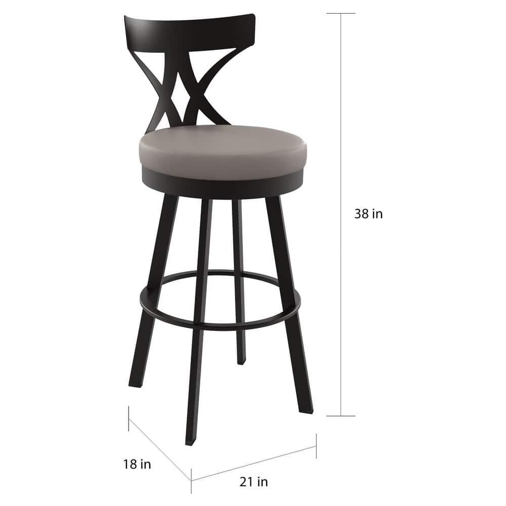 Enjoyable Shop Amisco Washington 26 Inch Metal Swivel Counter Stool Dailytribune Chair Design For Home Dailytribuneorg