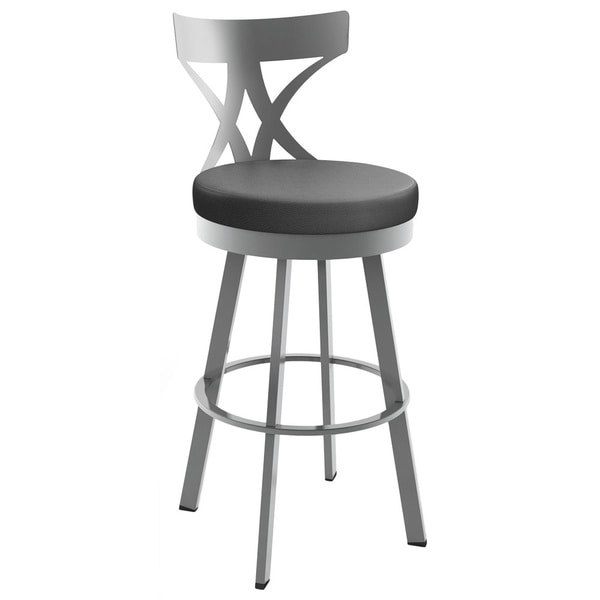 Amisco Washington 26 Inch Metal Swivel Counter Stool