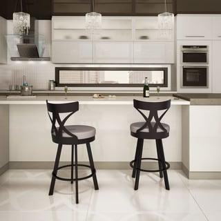 Amisco Washington 26-inch Metal Swivel Counter Stool