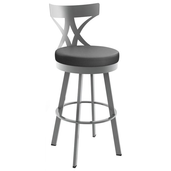 Amisco Washington 30 Inch Metal Swivel Bar Stool Free