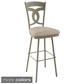 Amisco Valley 26-inch Metal Swivel Counter Stool