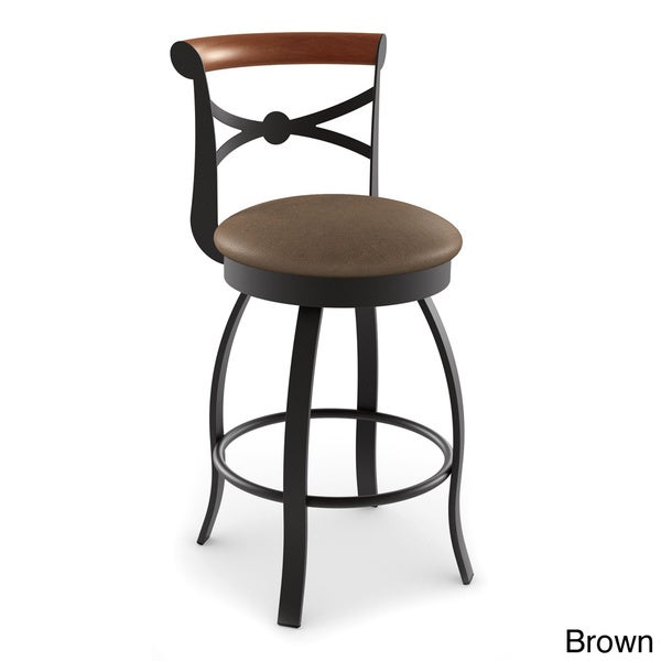 Amisco Bourbon Swivel Metal Counter Stool  sc 1 st  Overstock.com & Amisco Bourbon Swivel Metal Counter Stool - Free Shipping Today ... islam-shia.org