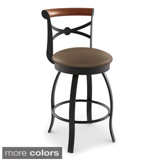 Amisco Bourbon Swivel Metal Counter Stool
