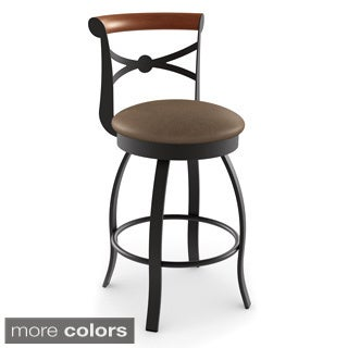 amisco bourbon swivel metal bar stool - Amisco Bar Stools