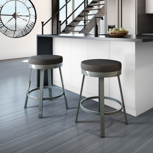 Awe Inspiring Carbon Loft Elmer Swivel Metal Counter Stool Uwap Interior Chair Design Uwaporg