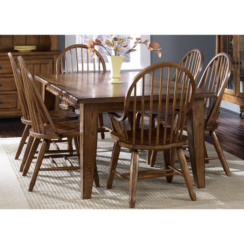 Treasures Rustic Oak 7-piece Dinette Set