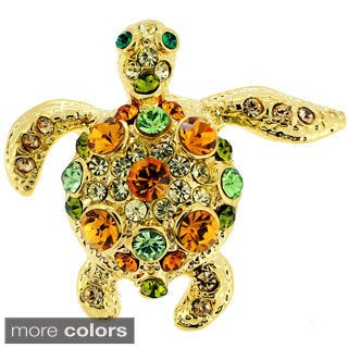 Multi-color Crystal Sea Turtle Lapel Pin