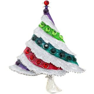 Crystal Christmas Tree Pin Brooch