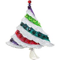 Crystal Christmas Tree Pin Brooch