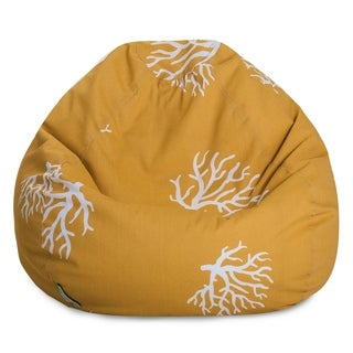 Majestic Home Goods Coral Classic Bean Bag Chair Small/Large