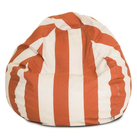 Majestic Home Goods Vertical Stripe Classic Bean Bag Chair Small/Large