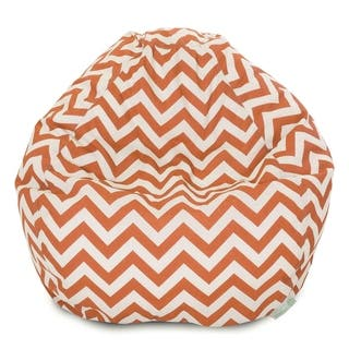Majestic Home Goods Chevron Classic Bean Bag Chair Small/Large