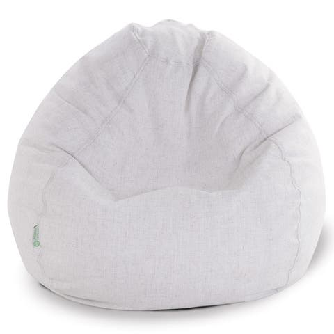 Majestic Home Goods Wales Classic Bean Bag Chair Small/Large