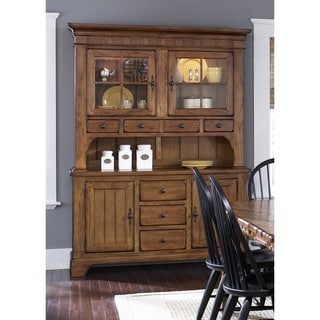 Liberty Rustic Oak Buffet and Hutch