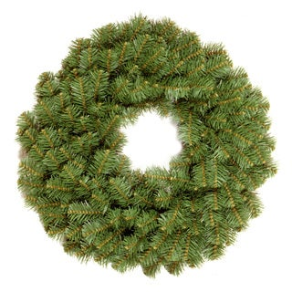 24-inch Kincaid Spruce Wreath with 2.25-inch Branch Diam Reshippable Inner Box
