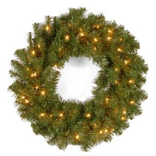24-inch Kincaid Spruce Wreath with 50 Clear Lights