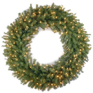 Norwood Fir Wreath with 150 Clear Lights