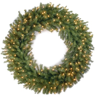 48-inch Norwood Fir Wreath with 200 Clear Lights