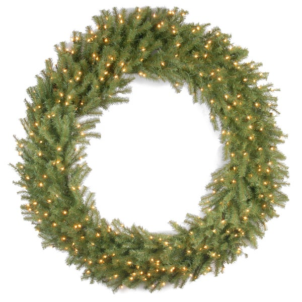 60 inch norwood fir wreath with 300 clear lights