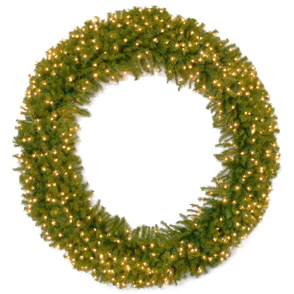 Shop 72-inch Norwood Fir Wreath With 450 Clear Lights