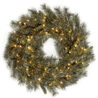 36-inch Winchester Pine Wreath with 150 Clear Lights