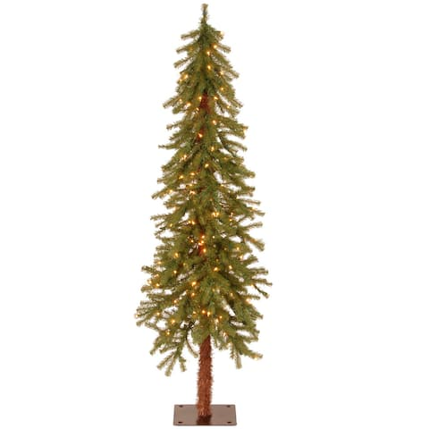 5-foot Pre-lit Hickory Cedar Tree with 150 Clear Lights