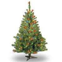 4-foot Kincaid Spruce Tree with 100 Multi Lights