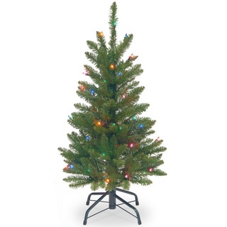 3-foot Kingswood Fir Wrapped Pencil Tree with 50 Multi Lights