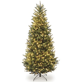 7.5-foot Natural Fraser Slim Fir Hinged Tree with 600 Clear Lights