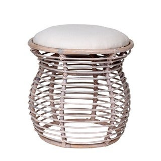 Decorative Off-White Modern Orinda Upholstered Stool