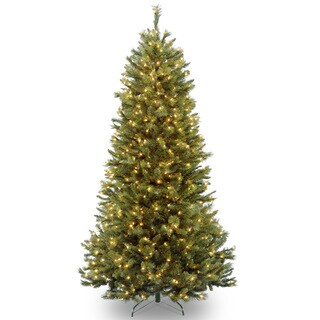 7.5-foot Rocky Ridge Slim Pine Tree with Clear Lights
